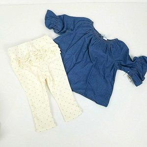 Old Navy Girls 12 - 18 Month Leggings Chambray Top